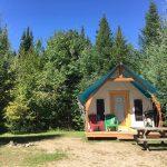 Prêt-à-camper/glamping nommé tente boréale T4 disponible à la location au Camping du Domaine Lausanne