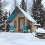 Prêt-à-camper/glamping nommé tente boreale T10 disponible à la location au Camping du Domaine Lausanne