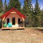 Prêt-à-camper/glamping nommé tente boréale T5 disponible à la location au Camping du Domaine Lausanne