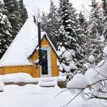Prêt-à-camper-glamping tipi S1 extérieur- hiver - Camping du Domaine Lausanne S1