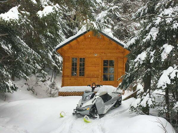 cabine glamping prêt-à-camper camping hiver