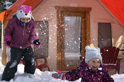 prêt-à-camper glamping famille camping hiver