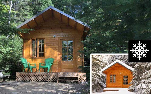 Glamping prêt-à-camper cabine camping hiver été